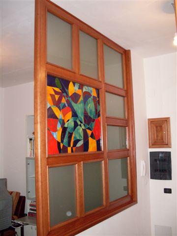Vetro fusione in parete divisoria klee - Parete divisoria in vetro ...